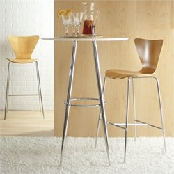 Eurostyle Bob Pub Table in Black or White - Black