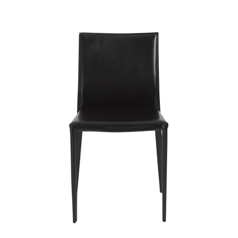 Eurostyle Shen Leather Dining Chair in Black
