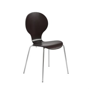 Eurostyle Bunny Stacking Chair in Wenge