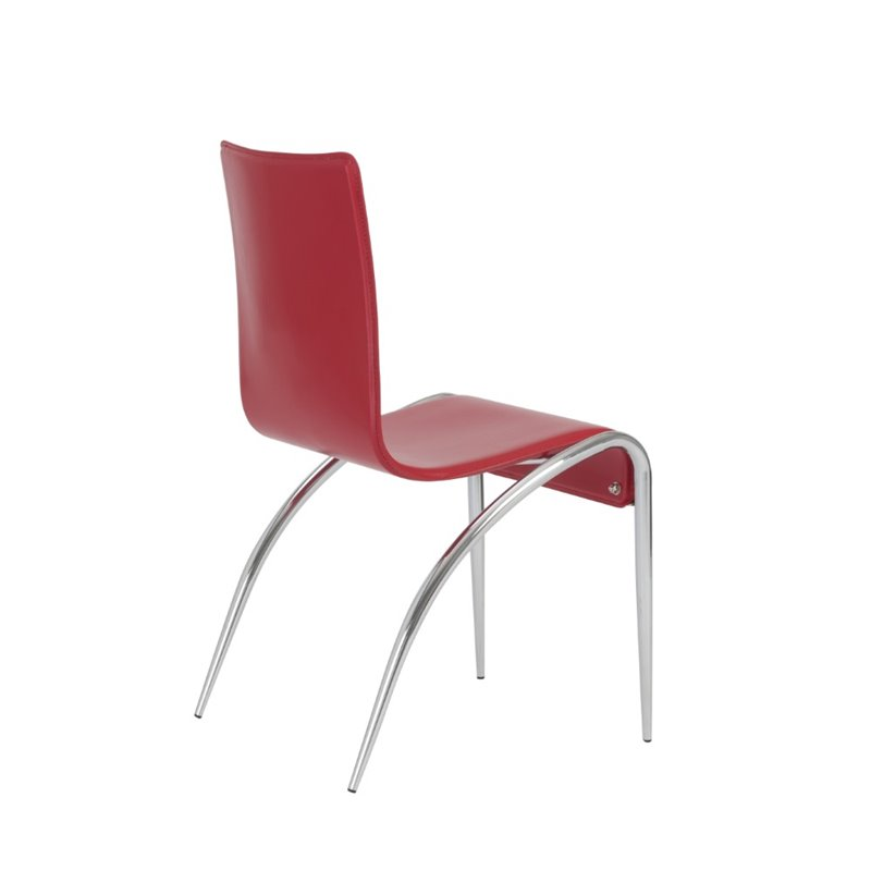Eurostyle Grace Dining Chair in Red Leather
