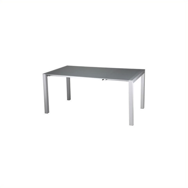 Eurostyle Delroy Casual Dining Table in Silver Lacquer