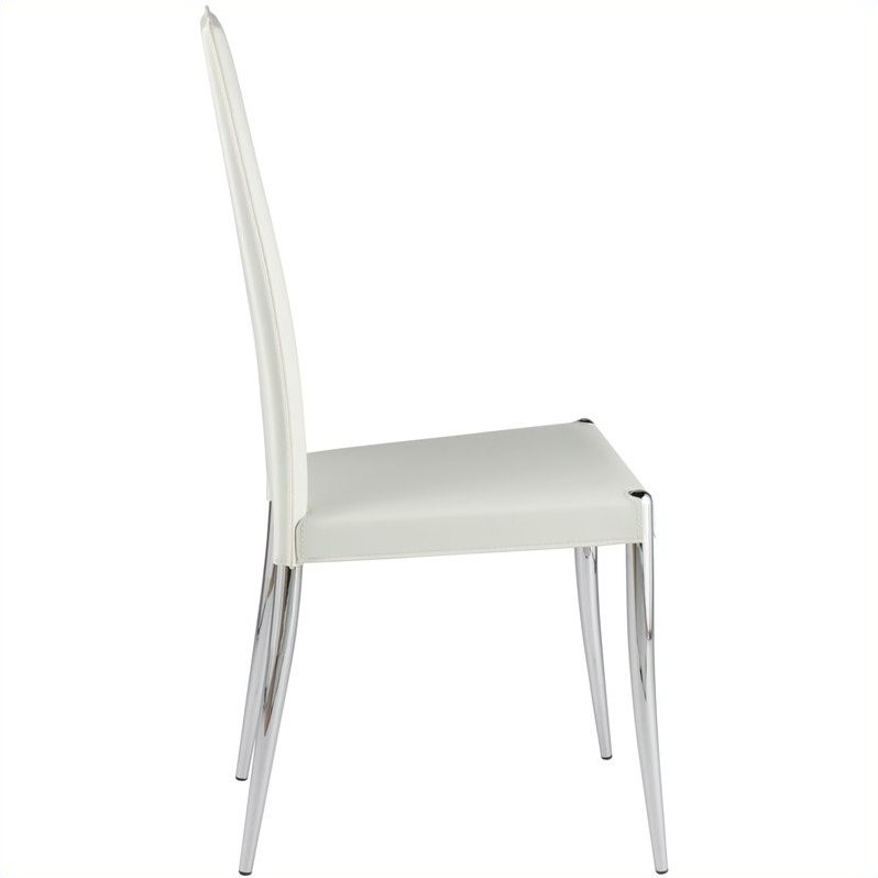 Eurostyle Raffi Leather Dining Chair in White