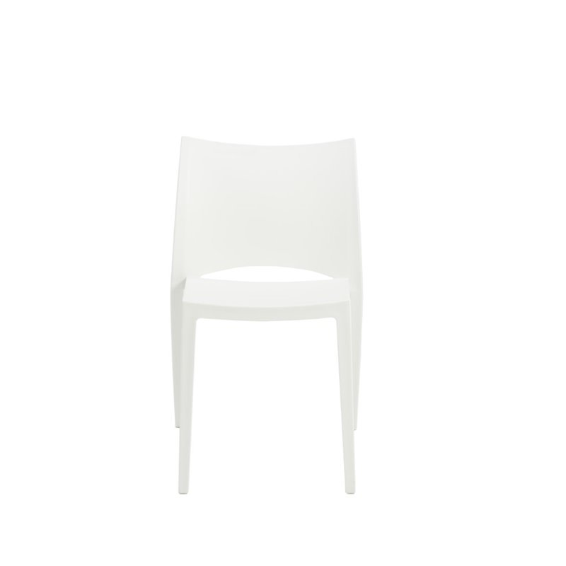Eurostyle Libby Stacking Dining Chair in White