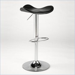 Eurostyle Romero Adjustable Counter Stool with Swivel in Black - Red/Chrome