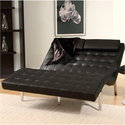 Eurostyle Vela 2 Leather Seat & Chrome Frame Lounge Chair