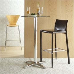 Eurostyle Alana Glass Top  Bar Height Table