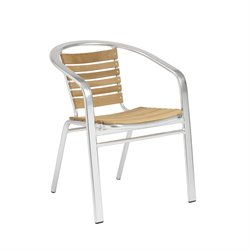Eurostyle Silva Stacking Teak Outdoor Arm Chair