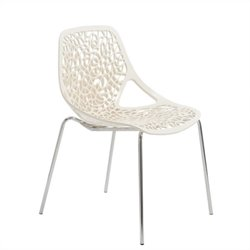 Eurostyle Lovie Stacking Dining Chair in White