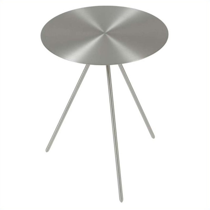 Eurostyle Faith Side Table in Brushed