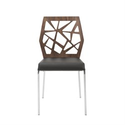 Eurostyle Sophia Dining Chair in American Walnut and Black