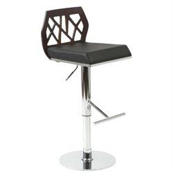 Adjustable Bar Stool in Chrome