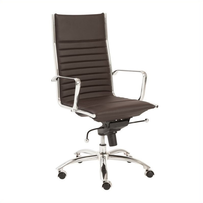 Eurostyle Dirk High Back Office Chair in Brown