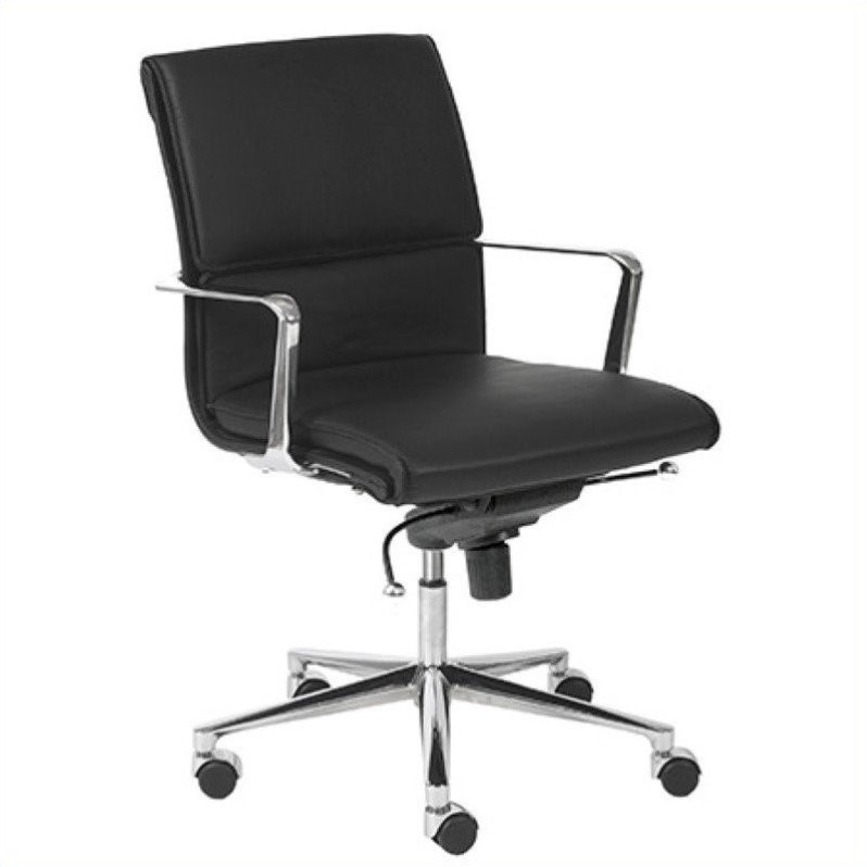 Eurostyle Leif Low Back Office Chair in Black/Chrome