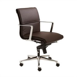 Eurostyle Leif Low Back Office Chair in Brown/Chrome