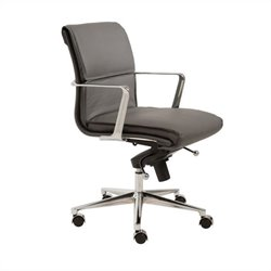 Eurostyle Leif Low Back Office Chair in Gray/Chrome