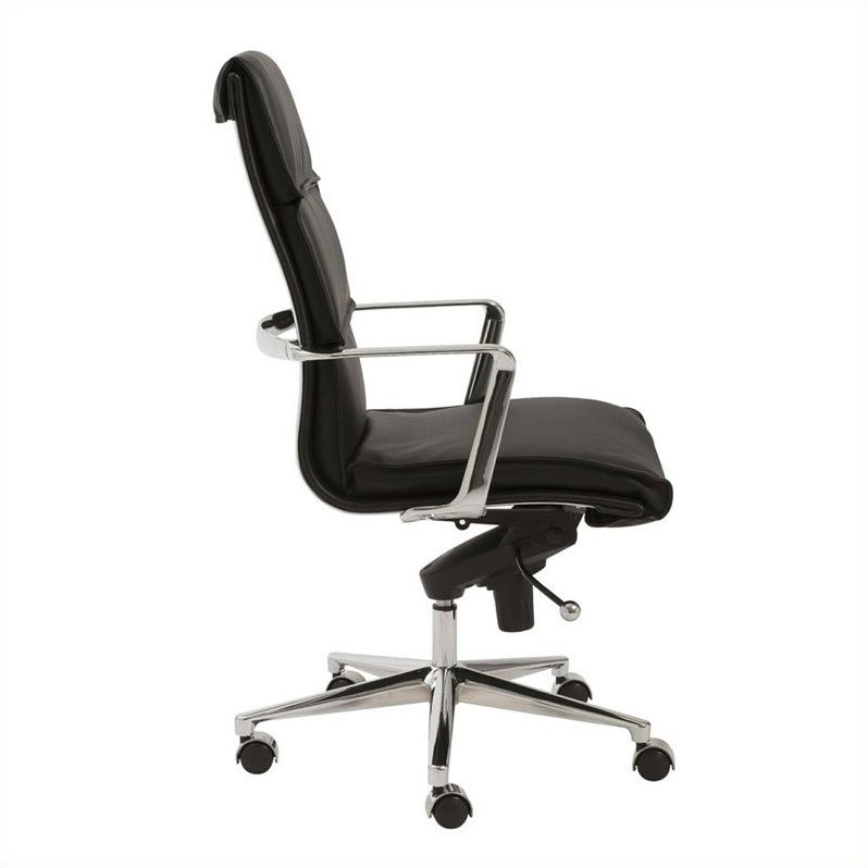 Eurostyle Leif High Back Office Chair in Black/Chrome