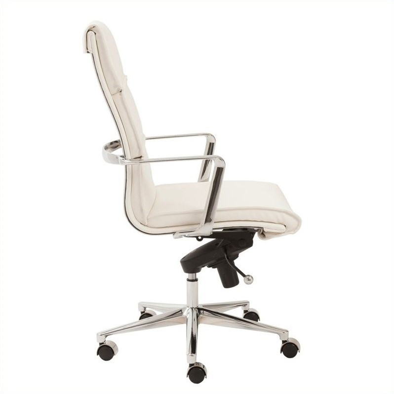 Eurostyle Leif High Back Office Chair in White/Chrome