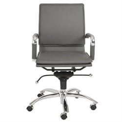 Eurostyle Gunar Pro Low Back Office Chair in Gray/Chrome