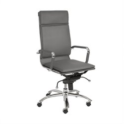 Eurostyle Gunar Pro High Back Office Chair in Gray/Chrome