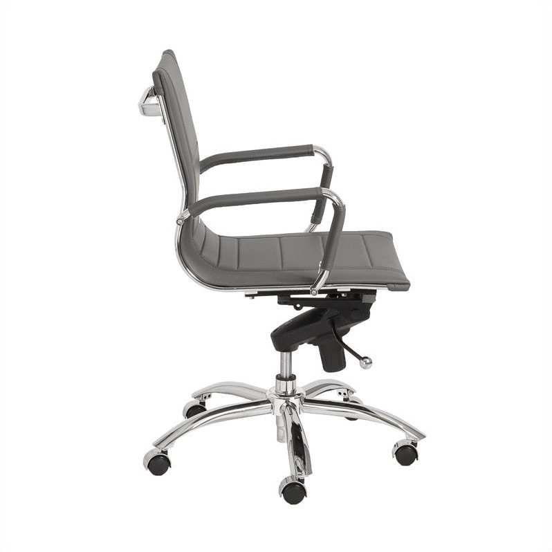 Eurostyle Owen Low Back Office Chair in Gray/Chrome