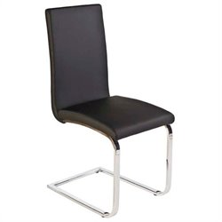 Eurostyle Santos  Dining Chair in Black/Chrome