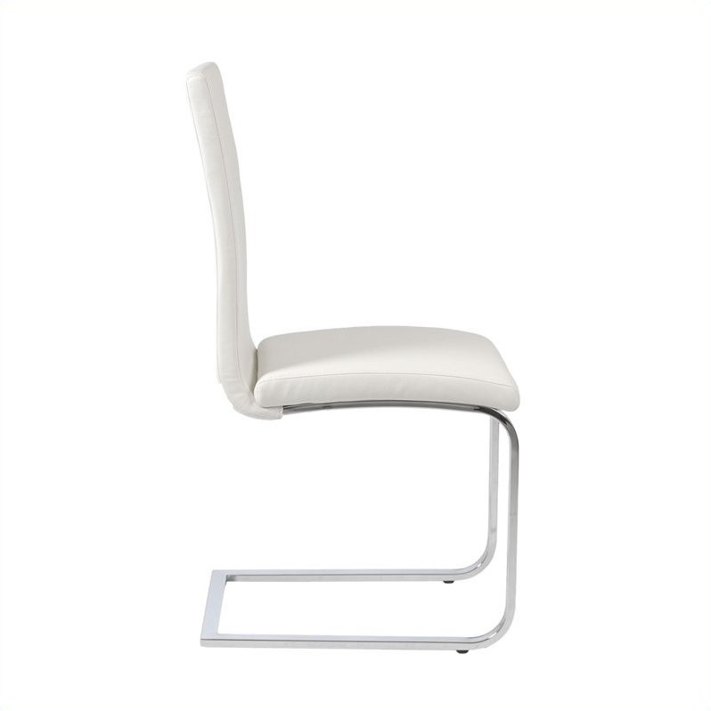 Eurostyle Santos  Dining Chair in White/Chrome