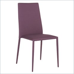 Eurostyle Chessa Side Chair in Purple Fabric