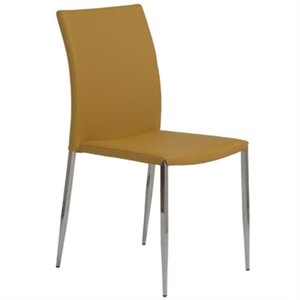 Eurostyle Diana  Dining Chair in Saffron/Stainless