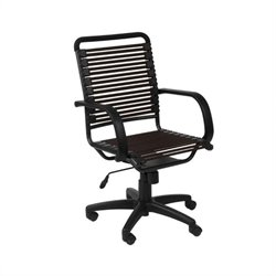 Eurostyle Bungie Flat High Back Office Chair in Brown