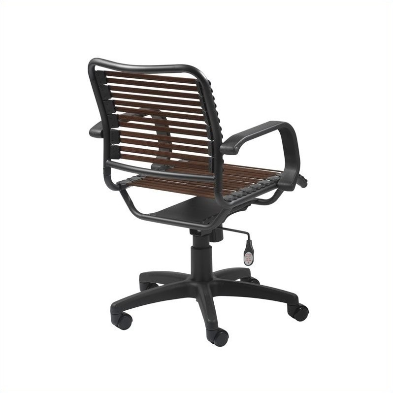 Eurostyle Bungie Flat Mid Back Office Chair in Brown/Graphite