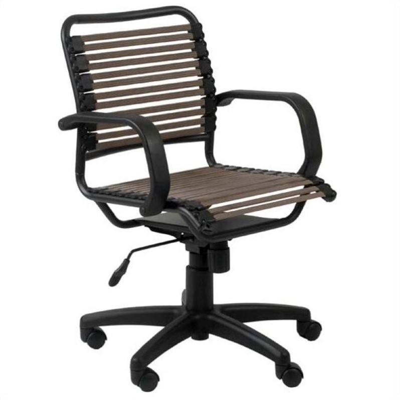 Bungie Flat Mid Back Office Chair in Brown/Graphite