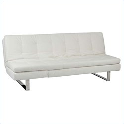 Eurostyle Erik Sofa Bed in White/Stainless Steel