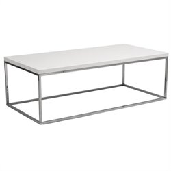 Eurostyle Teresa Rectangular Coffee Table in White Lacquer