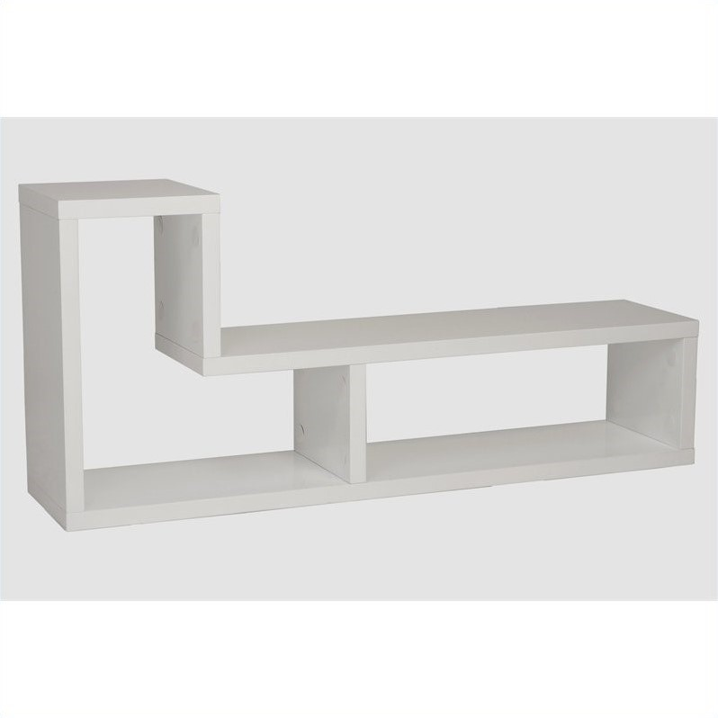Eurostyle Mervin Media Stand in White Lacquer