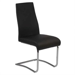 Eurostyle Rooney Low Back Dining Chair in Black/Chrome