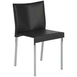 Eurostyle Riley  Dining Chair in Black Leather