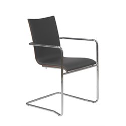 Eurostyle Madge Arm Chair in Black and Walnut