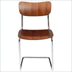 Eurostyle Erling Side Chair in Walnut