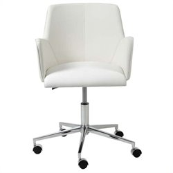 Eurostyle Sunny Office Chair in White/Chrome