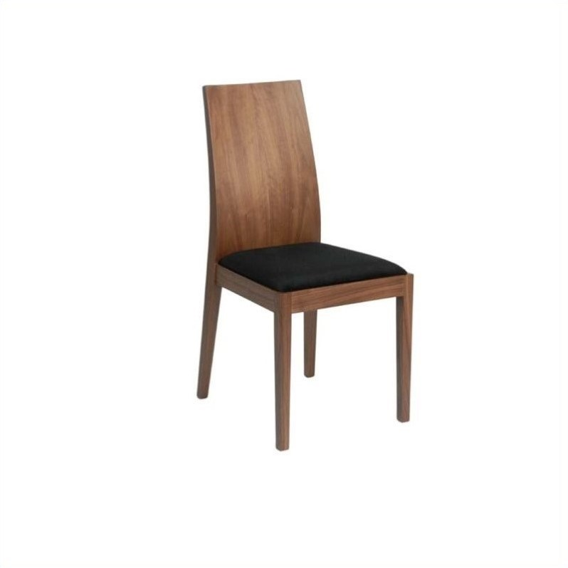 Eurostyle Deanna  Dining Chair in Walnut/Black