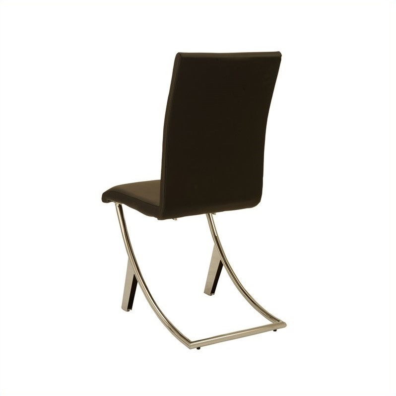 Eurostyle Cordelia  Dining Chair in Black/Chrome