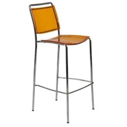 Eurostyle Stefie-B Pro 30 Bar Stool in Orange and Chrome