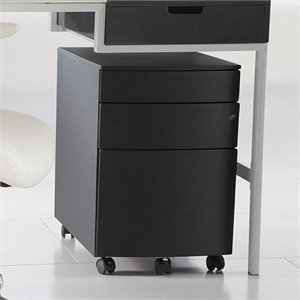 Eurostyle Floyd PPF Filing Cabinet in Black