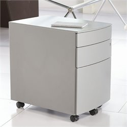 Eurostyle Floyd PPF Filing Cabinet in Silver