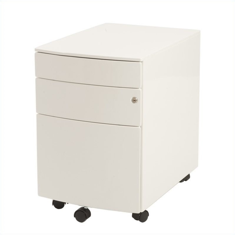 Eurostyle Floyd PPF Filing Cabinet in White