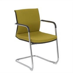 Eurostyle Baird Visitor Guest Chair in Mustard Yellow
