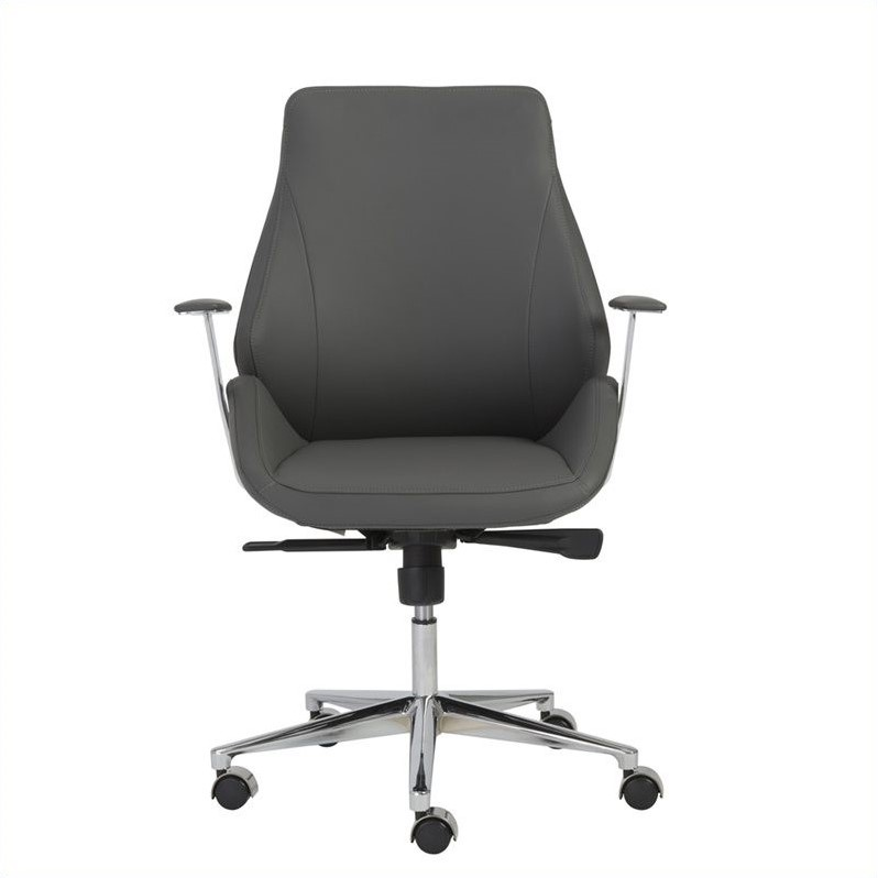 eurostyle bergen low back office chair in gray 00475gry