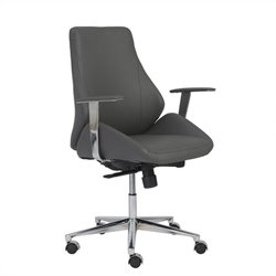 Eurostyle Bergen Low Back Office Chair in Gray
