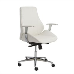 Eurostyle Bergen Low Back Office Chair in White