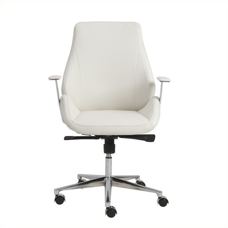 eurostyle bergen low back office chair in white 00475wht
